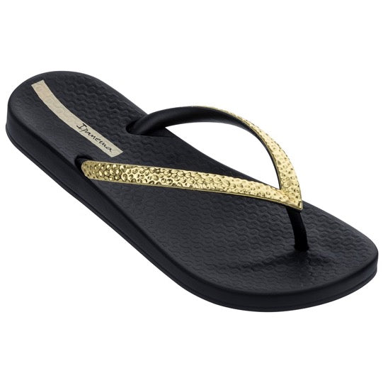 ipanema anatomic mesh black gold dames slippers