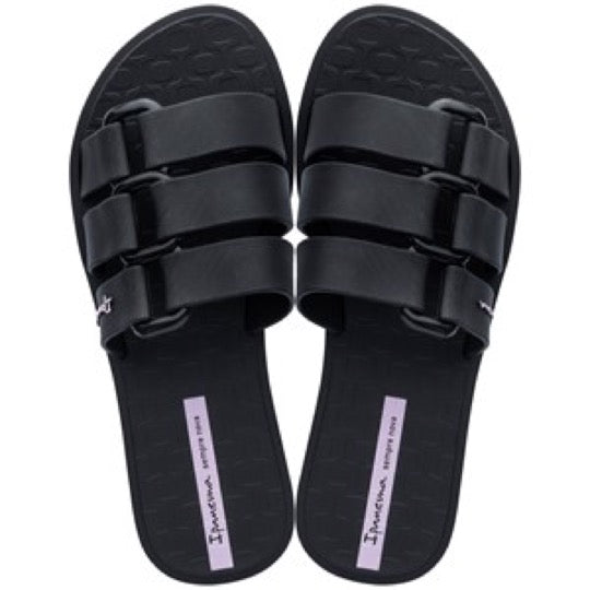 Ipanema Bold black dames slides