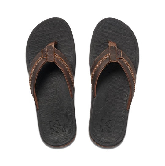 reef leather ortho-bounce coast slippers