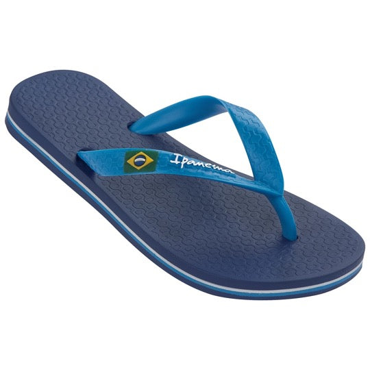 ipanema classic brasil kids blue slippers