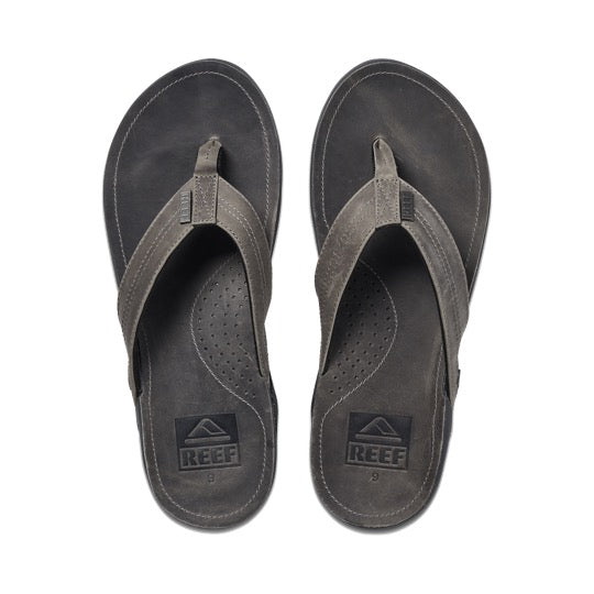 Reef j-bay cement leren teenslippers