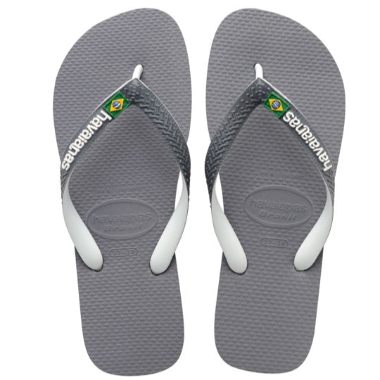 havaianas brasil mix steel grey slippers