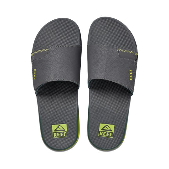reef fanning slide grey volt badslippers