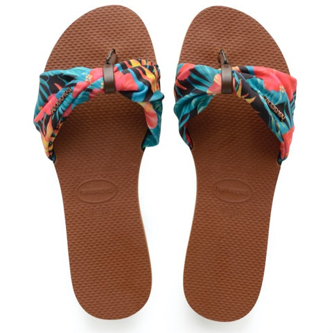 havaianas you tropez rust dames slippers