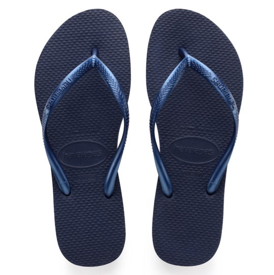 havaianas slim navy blue dames slippers