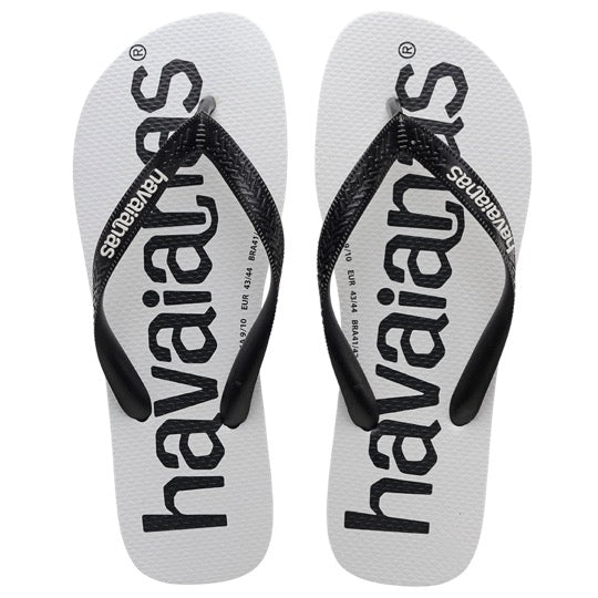 Havaianas top logomania black black slippers