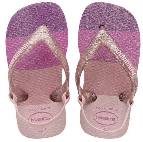 havaianas baby palette glow candy pink slippers