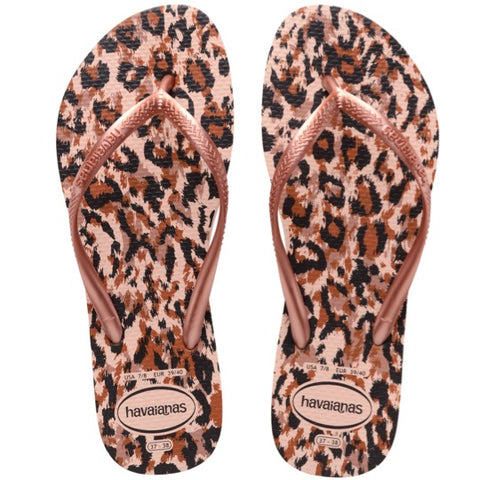 havaians slim animals rose slippers