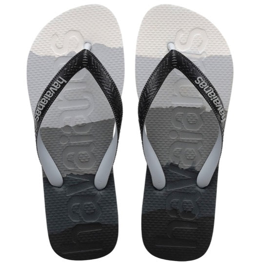 havaianas top logomania multicolor black slippers