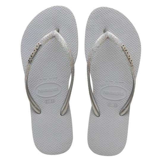 havaianas slim glitter ice grey dames slippers