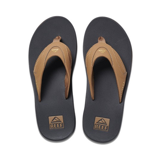 reef fanning grey khaki heren slippers