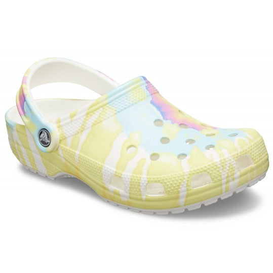 Crocs classic clogs tie dye multie white