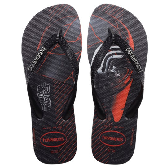 havaianas star wars black slippers