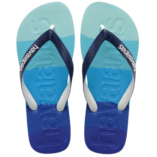 havaianas top logomania multicolor marine blue teenslippers