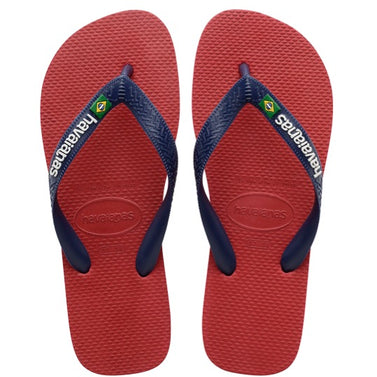 havaianas brasil logo red slippers
