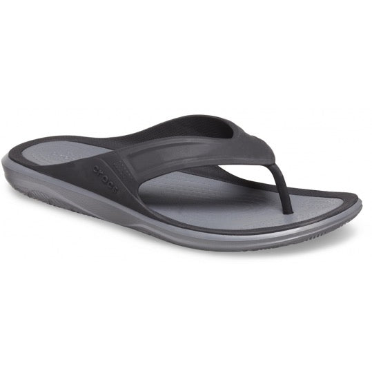 Crocs Swiftwater wave flip zwarte heren slippers