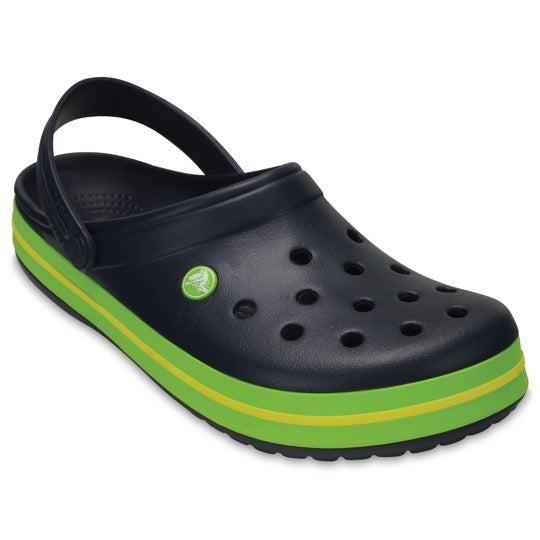 Crocs crocband klomp navy volt green