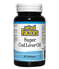 Natural Factors Super Cod Liver Oil 90 Softgels