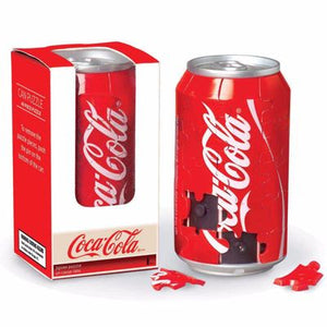 a red can of coke that is actually a 40 piece 3d puzzle