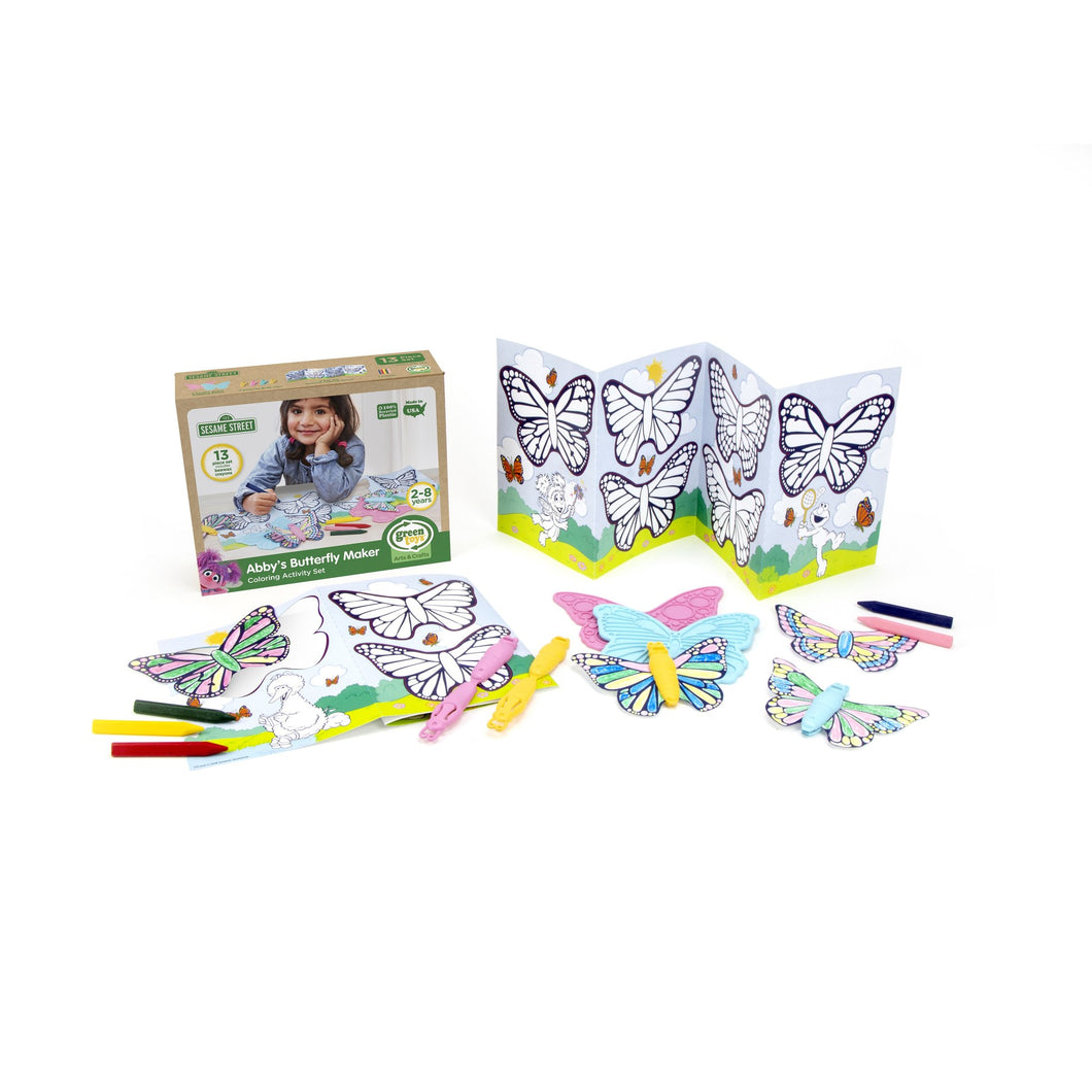Sesame St. Butterfly Maker Coloring Set