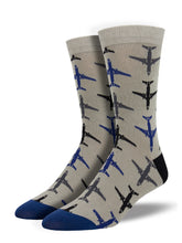 Load image into Gallery viewer, bamboo jet socks gray