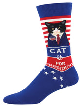 Load image into Gallery viewer, Cat For President Socks