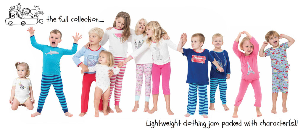 Bamboo sleepwear and loungewear for newborns to 8 year olds