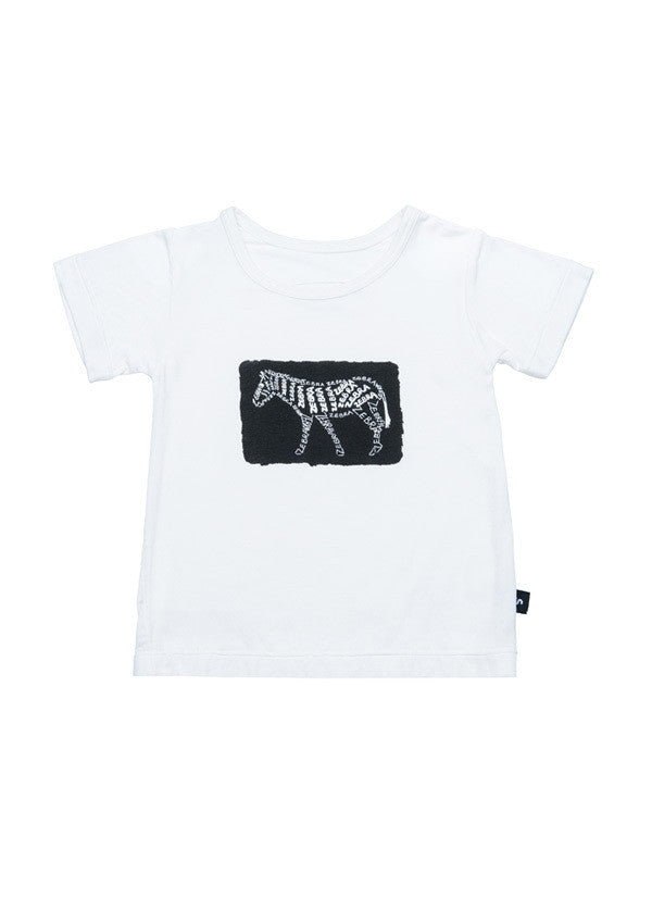 Short sleeve tee - Jake the zebra paint splash Tee - SNUGALICIOUS BAMBOO