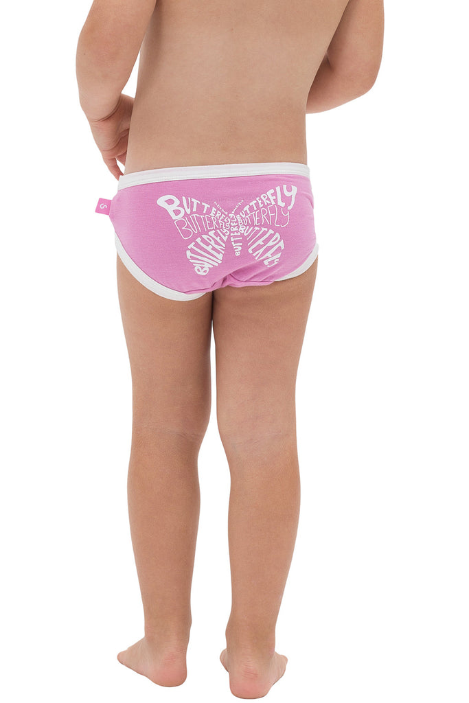 Bamboo comfy undies - Girls - Emilie the butterfly - SNUGALICIOUS BAMBOO
