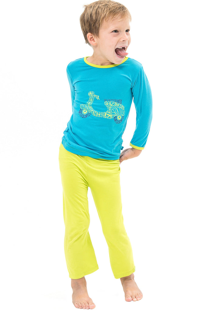 Bamboo yoga pants - Lime Green - SNUGALICIOUS BAMBOO