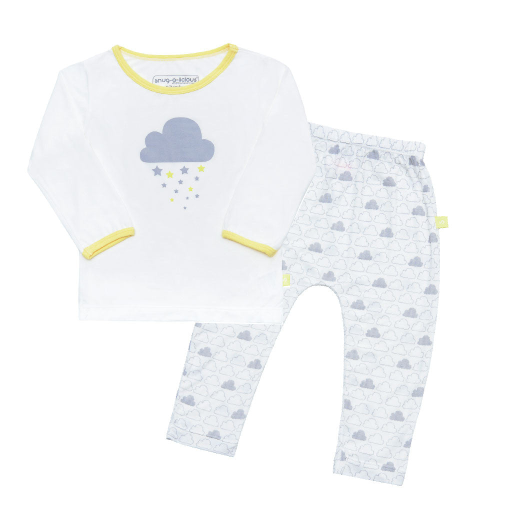 Bamboo play set - Unisex cloud print - SNUGALICIOUS BAMBOO