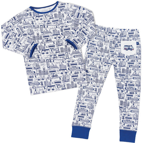 Bamboo long John Pyjamas - Harvey's unbearably cool bear
