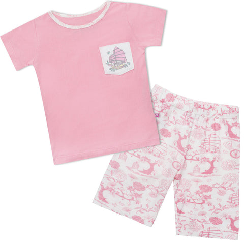 Bamboo long John Pyjamas- Oriental Girl
