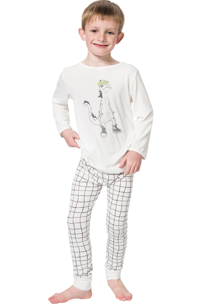 Bamboo long John Pyjamas - Lounge lizard