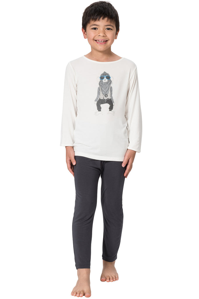 Bamboo long sleeve Tee Cheeky chimp - SNUGALICIOUS BAMBOO