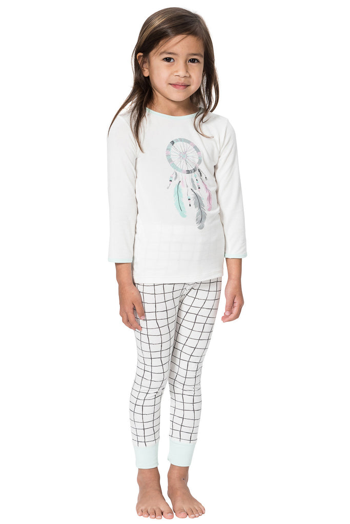 Grid print bamboo pyjamas - dream catcher print by snugalicious