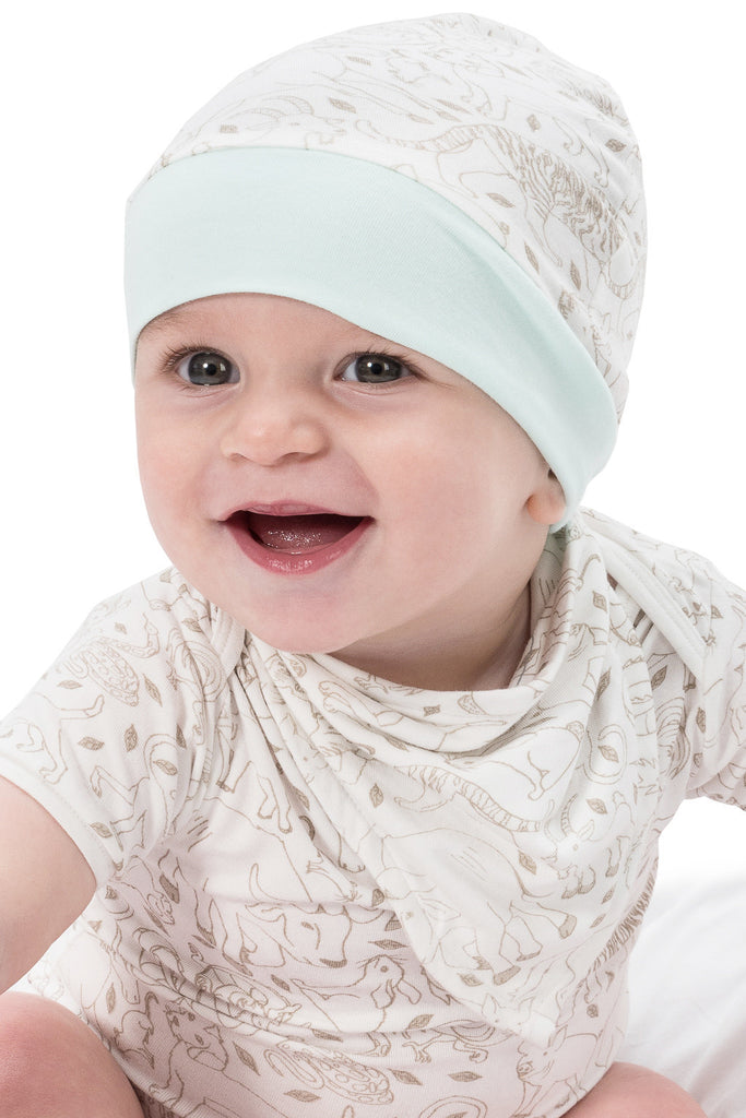 Bamboo baby hat - knot top style -Zodiac - SNUGALICIOUS BAMBOO