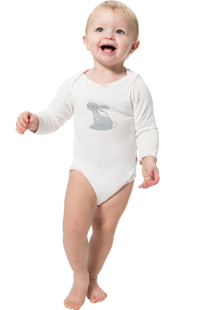 Cute as a bunny bamboo onesie by Snug-a-licious