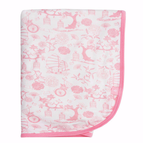 Bamboo baby dribble bib - Beautiful coral Stripe