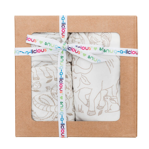 Gift set - Short sleeve onesie/Hat/Bib - Zodiac