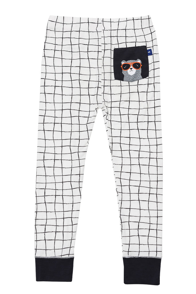 Bamboo long John Pyjamas - Harvey's unbearably cool bear - SNUGALICIOUS BAMBOO