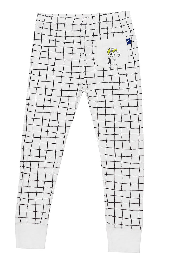 Snug-a-licious long johns for boys in lounge lizard print