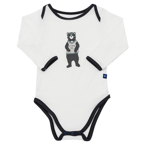 Bamboo onesie - long sleeve - Dino