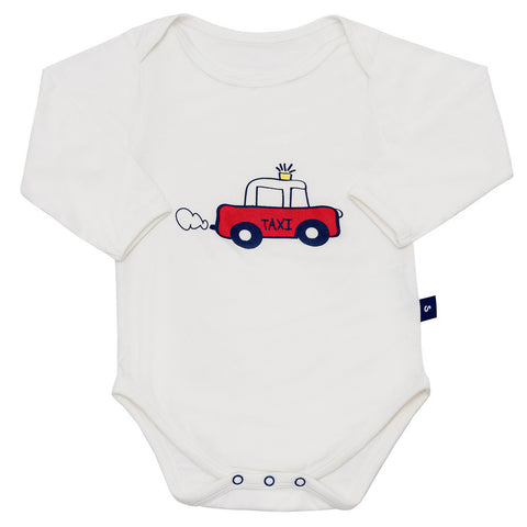 Bamboo onesie - long sleeve - Harvey's unbearably cool bear