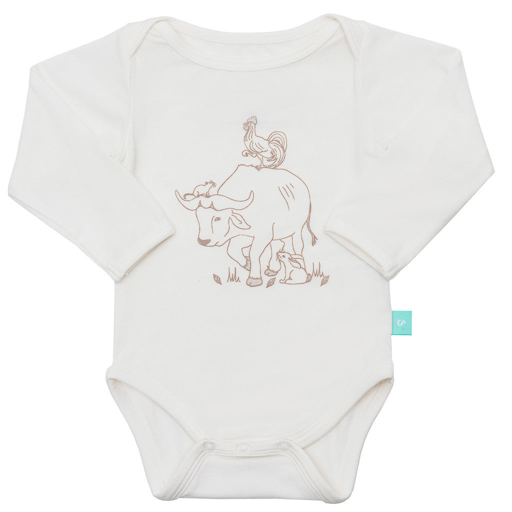 Gift set - Long sleeve onesie/bib/hat - Zodiac