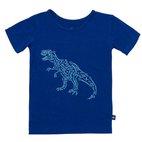Bamboo short sleeve tee - Cameron the crocodile