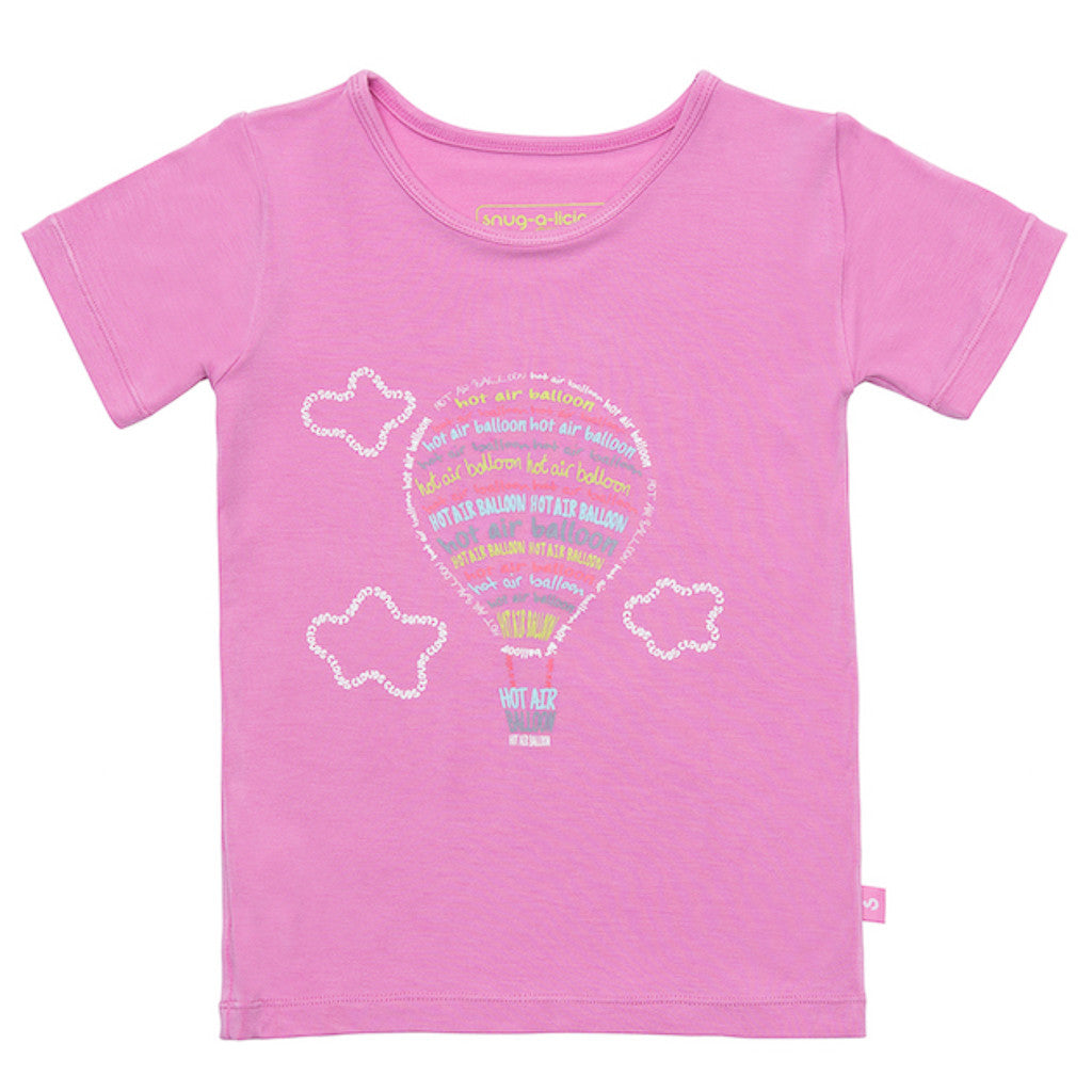 Bamboo short sleeve tee - Myla's Hot Air Balloon - SNUGALICIOUS BAMBOO