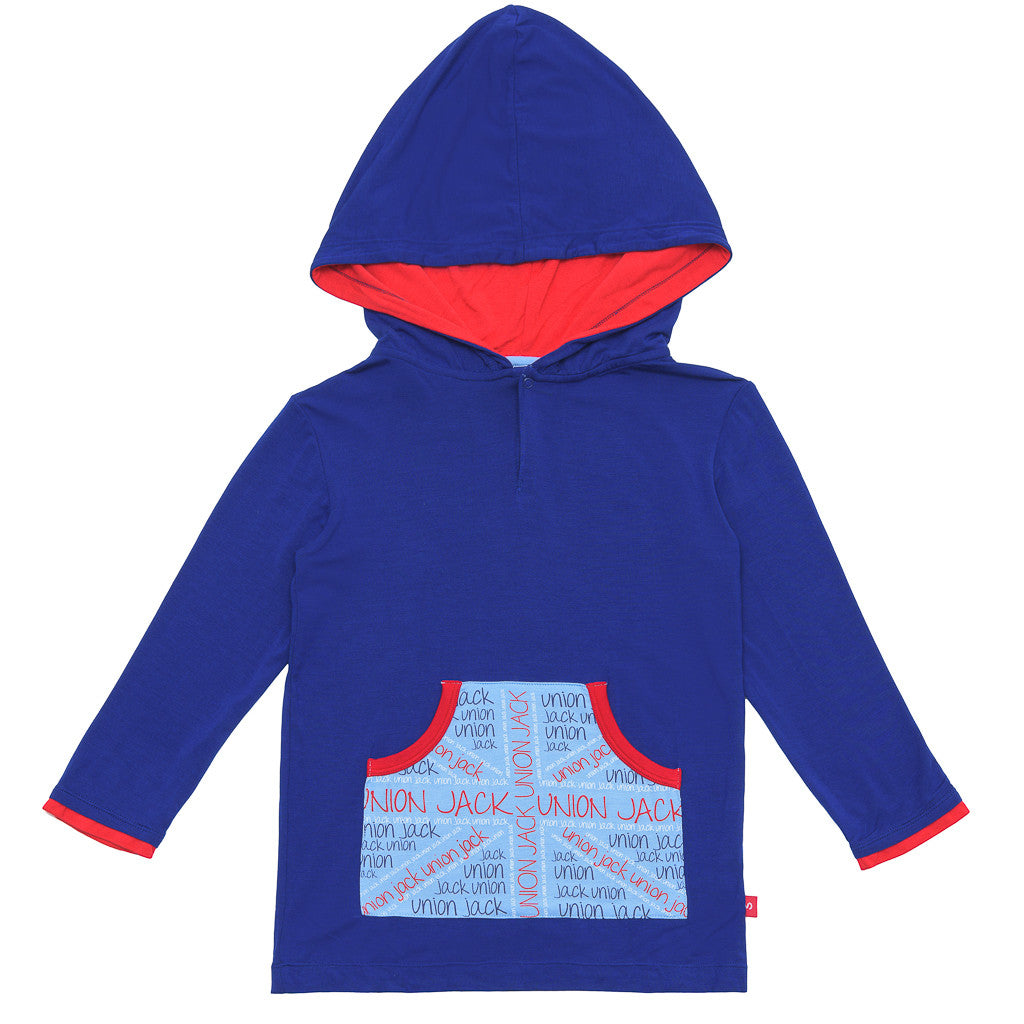 Union jack hoodie - Ultra soft bamboo clothing for boys