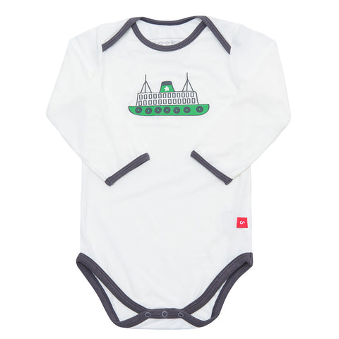 Bamboo onesie - long sleeve - Crazy taxi