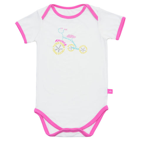 Bamboo sleep suit - Cloud print
